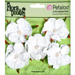 Petaloo - Flora Doodles Collection - Velvet Wild Roses - Small - White