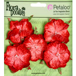 Petaloo - Flora Doodles Collection - Velvet Wild Roses - Small - Poppy Red