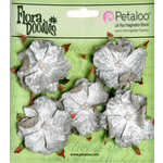 Petaloo - Flora Doodles Collection - Velvet Wild Roses - Small - Silver Gray