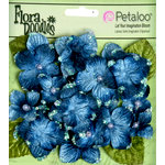Petaloo - Flora Doodles Collection - Velvet Hydrangeas - Deep Blue