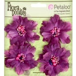 Petaloo - Flora Doodles Collection - Beaded Peonies - Small - Plum