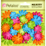 Petaloo - Flora Doodles Collection - Mulberry Flowers - Mini - Delphiniums - Fuschia Green Blue and Orange