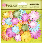 Petaloo - Flora Doodles Collection - Mulberry Flowers - Mini - Delphiniums - Pastels
