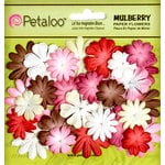 Petaloo - Flora Doodles Collection - Mulberry Flowers - Mini - Delphiniums - Romance