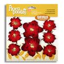 Petaloo - Flora Doodles - Handmade Paper Flowers - Wild Roses - Red