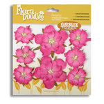 Petaloo - Flora Doodles Collection - Flowers - Mulberry Paper Wild Roses - Paper Wild Roses - Fuschia