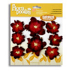 Petaloo - Flora Doodles - Handmade Paper Flowers - Wild Roses - Burgundy
