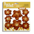 Petaloo - Flora Doodles - Handmade Paper Flowers - Wild Roses - Mocha, CLEARANCE