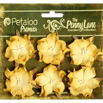 Petaloo - Penny Lane Collection - Floral Embellishments - Wild Roses - Mulberry Street - Yellow