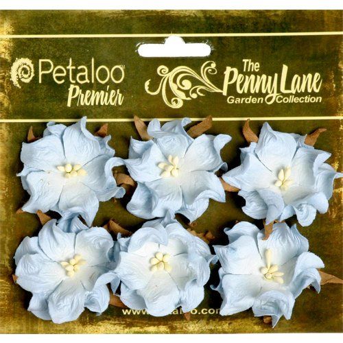 Petaloo - Penny Lane Collection - Floral Embellishments - Wild Roses - Mulberry Street - Baby Blue