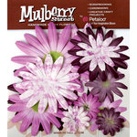 Petaloo - Mulberry Street Collection - Handmade Paper Flowers - Large Daisies with Tyedye - Lavender, CLEARANCE