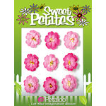 Petaloo - Sweet Petites Collection - Handmade Paper Flowers - Doubled Mulberry Delphiniums - Pink Mix, CLEARANCE