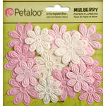 Petaloo - Flora Doodles Collection - Embossed Mulberry Flowers - Daisies - Mini - Sugar and Spice