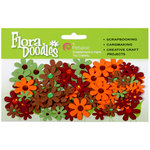 Petaloo - Flora Doodles Collection - Handmade Paper Flowers - Jeweled Florettes - Fall, CLEARANCE
