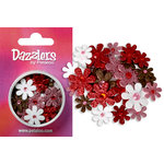 Petaloo - Dazzlers Collection - Small Glittered Florettes - Red White Pink and Chocolate, CLEARANCE