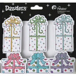 Petaloo - Dazzlers Collection - Glittered Sticker Shapes - Birthday - Gift Boxes