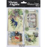 Petaloo - Vintage Dazzlers - 3 Dimensional Stickers with Glitter Accents - Best Wishes