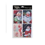 Petaloo - Vintage Dazzlers Collection - Christmas - Glittered Sticker Shapes - Retro Santa