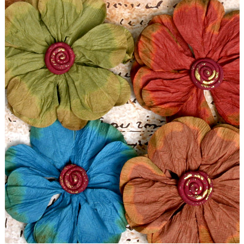 Petaloo - Darjeeling Collection - Floral Embellishments - Poppy