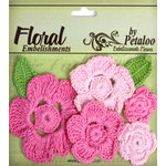 Petaloo - Devon Collection - Crocheted Flowers - Pinks