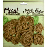 Petaloo - Devon Collection - Crocheted Flowers - Browns