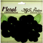 Petaloo - Devon Collection - Crocheted Flowers - Black