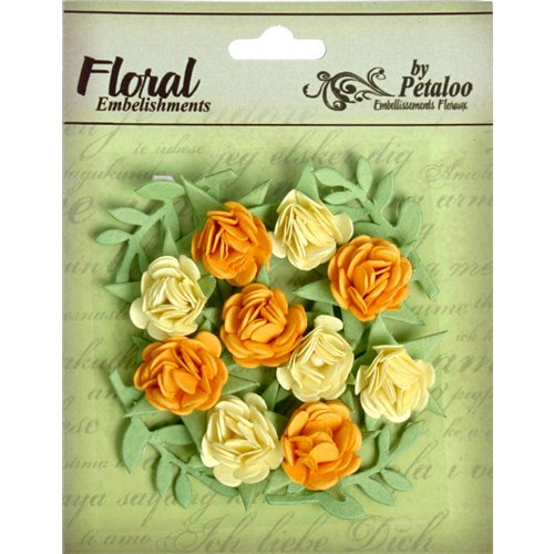 Petaloo - Devon Collection - Petites Mini Rose - Yellow and Gold