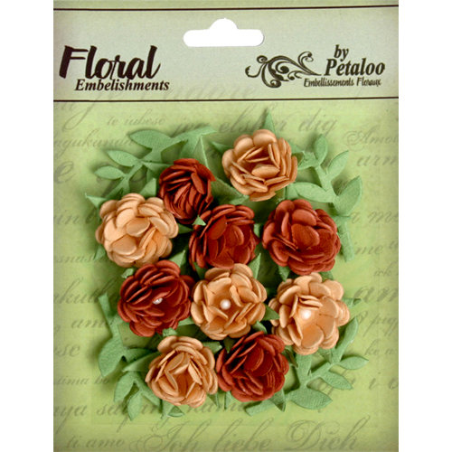 Petaloo - Devon Collection - Petites Mini Rose - Tan and Brown