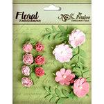 Petaloo - Devon Collection - Petites Mini Rose Clusters - Pink