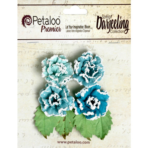 Petaloo - Darjeeling Collection - Floral Embellishments - Frosted Roses - Seaside