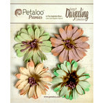 Petaloo - Darjeeling Collection - Floral Embellishments - Daisies - Pistachio