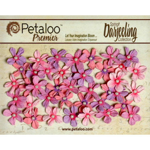 Petaloo - Darjeeling Collection - Floral Embellishments - Mini Pearl Daisies - Hyacinth