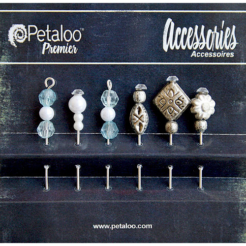 Petaloo - Darjeeling Collection - Beaded Hat Pins - Aqua