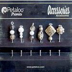 Petaloo - Darjeeling Collection - Beaded Hat Pins - Black and White