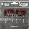 Petaloo - Darjeeling Collection - Glass Ornament Pins - Red
