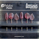 Petaloo - Darjeeling Collection - Glass Ornament Pins - Dark Rose
