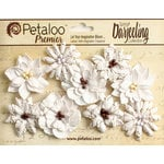 Petaloo - Printed Darjeeling Collection - Floral Embellishments - Wild Blossoms - Medium - White