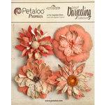 Petaloo - Printed Darjeeling Collection - Floral Embellishments - Wild Blossoms - Large - Paprika