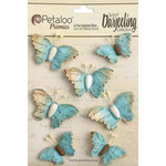 Petaloo - Printed Darjeeling Collection - Wild Butterflies - Aqua