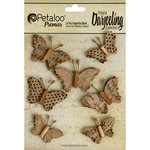 Petaloo - Printed Darjeeling Collection - Wild Butterflies - Craft Brown