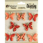 Petaloo - Printed Darjeeling Collection - Mini Butterflies - Teastained Spice