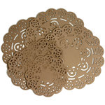 Petaloo - Printed Darjeeling Collection - Doilies - Craft Brown