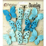 Petaloo - Darjeeling Collection - Butterflies - Teastained Teals