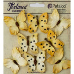 Petaloo - Darjeeling Collection - Butterflies - Teastained Yellow