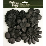 Petaloo - Color Me Crazy Collection - Black Chalkboard - Flower Layers