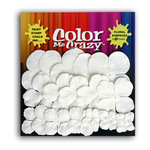 Petaloo - Color Me Crazy Collection - Mulberry Paper Flowers - Hydrangea Petals - White, CLEARANCE