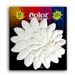 Petaloo - Color Me Crazy Collection - Mulberry Paper Flowers - Giant Daisy Layers - White, CLEARANCE