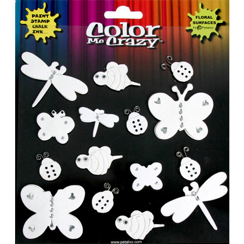 Petaloo - Color Me Crazy Collection - 3 Dimensional Foam Peel-n-Stick Stickers - Spring