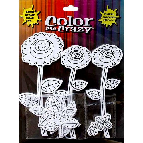 Petaloo - Color Me Crazy Collection - Silhouettes - Dahlias