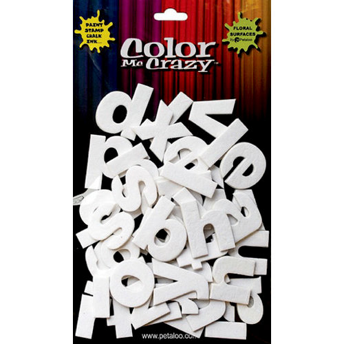 Petaloo - Color Me Crazy Collection - 3 Dimensional Foam Stickers - Lower Case Letters